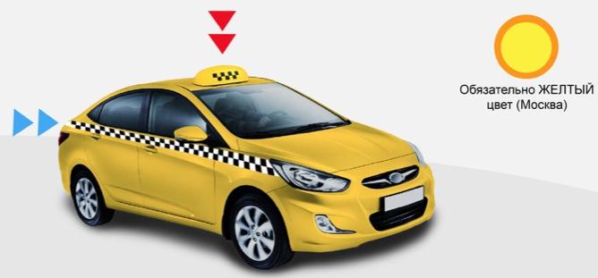 Желтый цвет такси