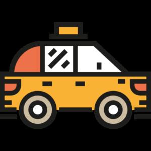 арендованный авто такси
