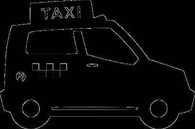 Лицензия такси на авто черного цвета