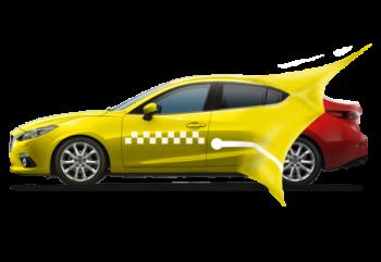 Оклейка машины пленкой под такси
